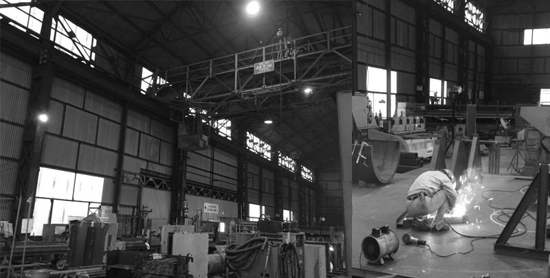 室蘭の鉄工所インテリア