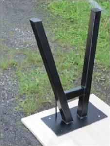 やぐら型内傾きテーブル鉄脚(逆さアップ)