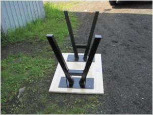 やぐら型内傾きテーブル鉄脚(逆さま)