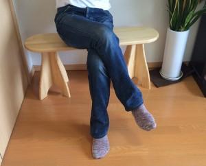 パイン材の組立式ベンチ